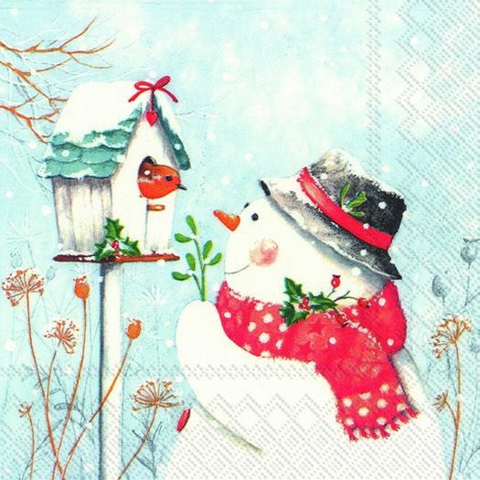 Χαρτοπετσέτα για decoupage, Keep you warm and lovely, 1 τεμ.