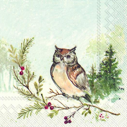 Χαρτοπετσέτα για decoupage, Woodland owl, 1 τεμ.