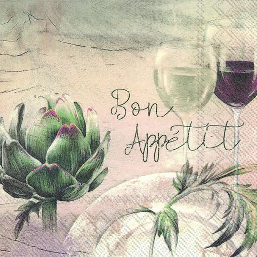 Χαρτοπετσέτα για decoupage, Bon appetit, 1 τεμ.