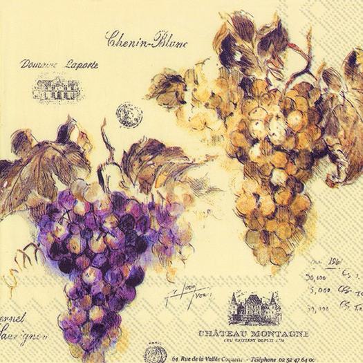 Χαρτοπετσέτα για decoupage, Vin de France, 1 τεμ.