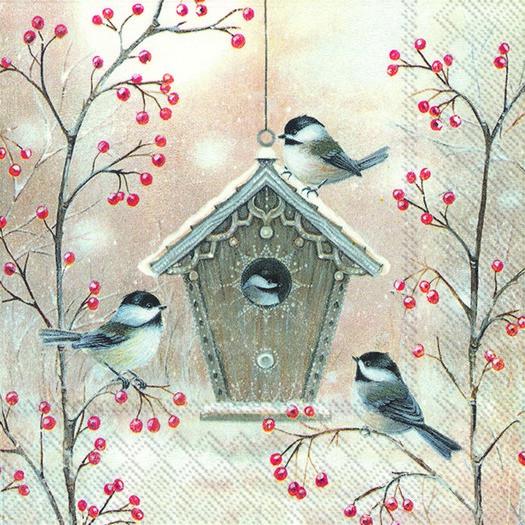 Χαρτοπετσέτα για decoupage, Beautiful birdhouse, 1 τεμ.