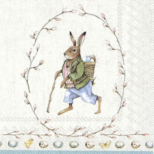 Χαρτοπετσέτα για decoupage, Edward Rabbit, 1 τεμ.