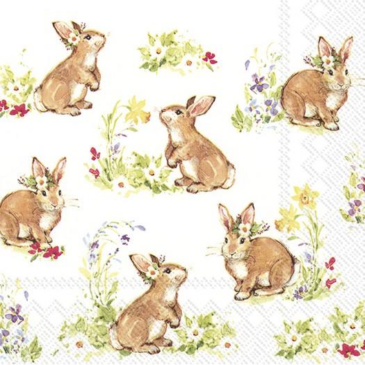 Χαρτοπετσέτα για decoupage, Sweet lovely bunnies, 1 τεμ.