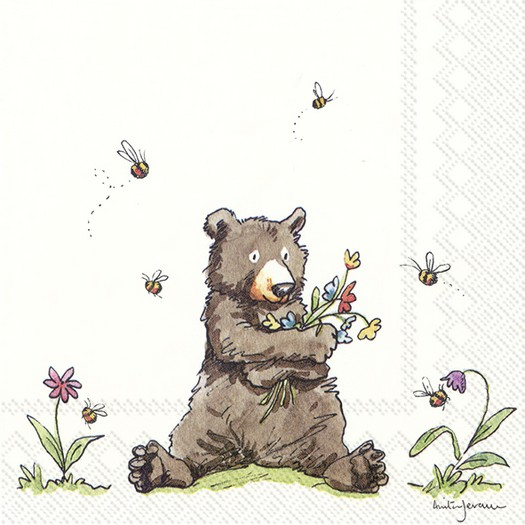 Χαρτοπετσέτα για decoupage, Honey bear, 1 τεμ.