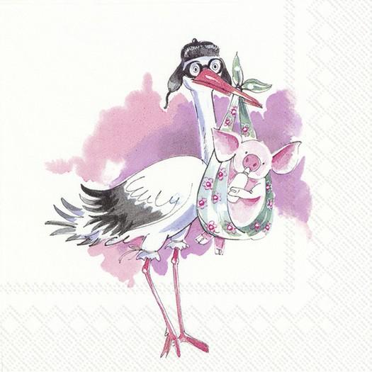 Χαρτοπετσέτα για decoupage, Piggy New Baby Pink, 1 τεμ.