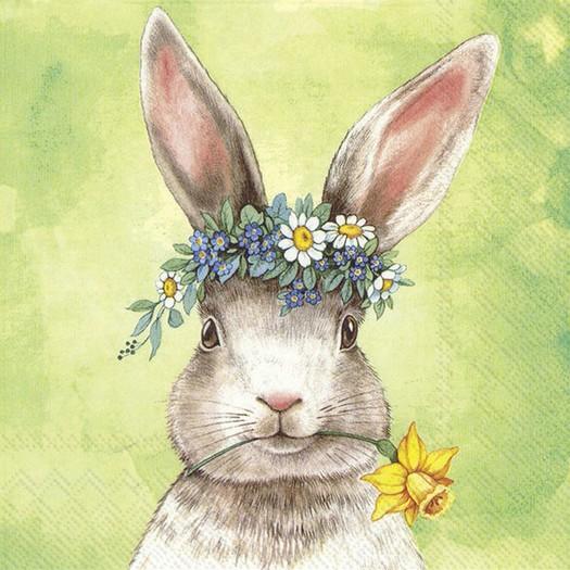 Χαρτοπετσέτα για decoupage, Easter Friends Bunny, 1 τεμ.
