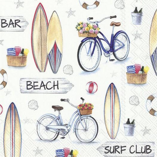 Χαρτοπετσέτα για decoupage, Surf Club, 1 τεμ.