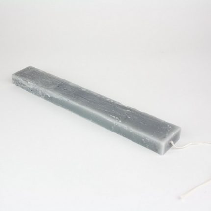 Λαμπάδα κερί rustic πλακέ 25x3,5x,15cm, γκρι ανοιχτό