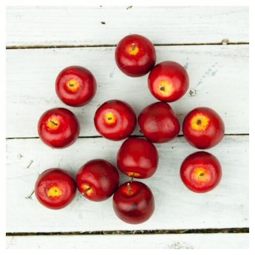 Μηλαράκια διακοσμητικά mini, red, 12τμχ