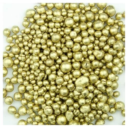 Metallic pearls, Yellow Gold 150ml