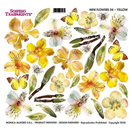 Διαφάνεια για Sospeso 16x17cm, Mini Flowers Yellow, MF04
