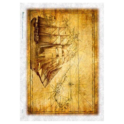 Ριζόχαρτο PaperD για Decoupage 32Χ45cm - Maps002