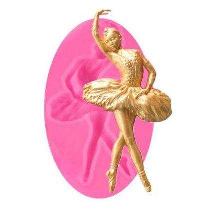 Καλούπι σιλικόνης, Ballet Dancer, 10x5.5cm