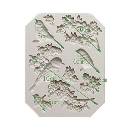 Καλούπι σιλικόνης, Birds, 2,8-10cm
