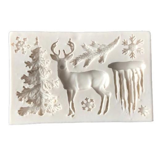 Καλούπι σιλικόνης 45x75mm, Christmas decoration