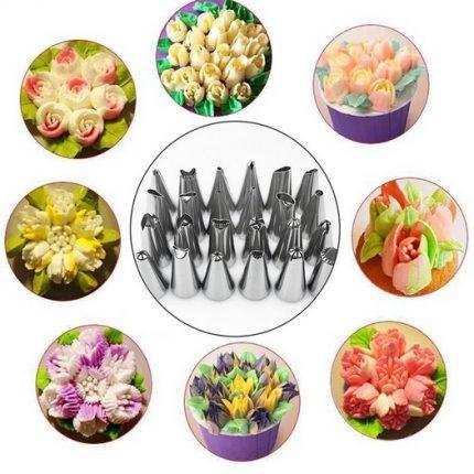 Russian Tulip Icing, μύτες κορνέ για κατασκευή λουλουδιών, 48 τεμ.