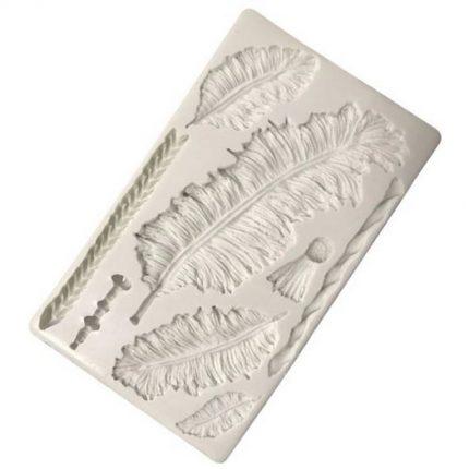 Καλούπι σιλικόνης, Feathers, 20,5x11,5cm