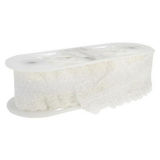 Δαντέλα White 65 mm, 1m
