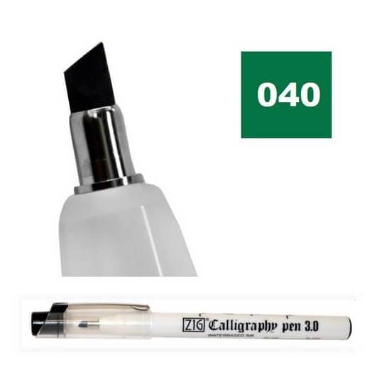 Μαρκαδόρος ZIG Calligraphy Oblique (λοξή μύτη), 3.0mm, Green