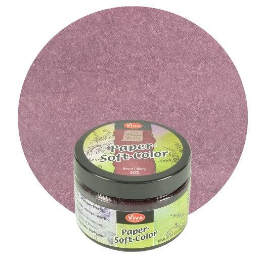 Paper Soft Color Viva Decor 75 ml - Berry