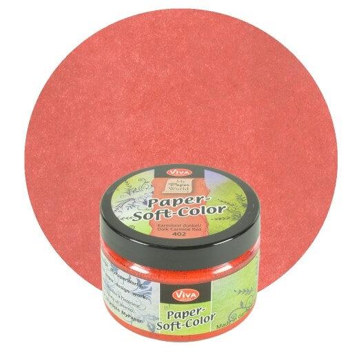 Paper Soft Color Viva Decor 75 ml - Dark carmine red