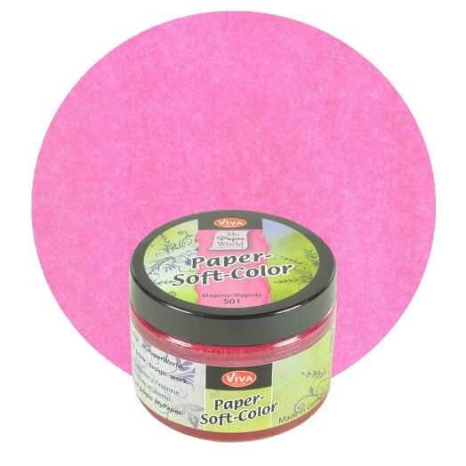 Paper Soft Color Viva Decor 75 ml - Magenta
