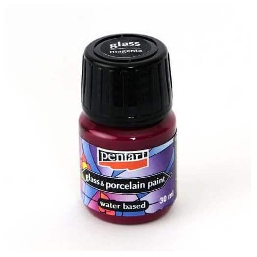 Χρώμα για Γυαλί και πορσελάνη 30ml Pentart - Magenta