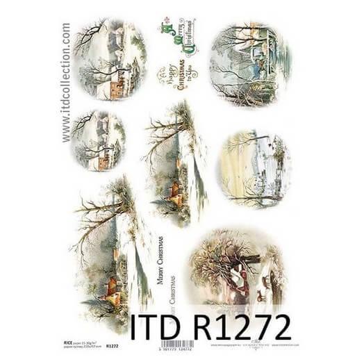 Ριζόχαρτο ITD, 21x29cm, Χιονισμένο τοπίο, R1272
