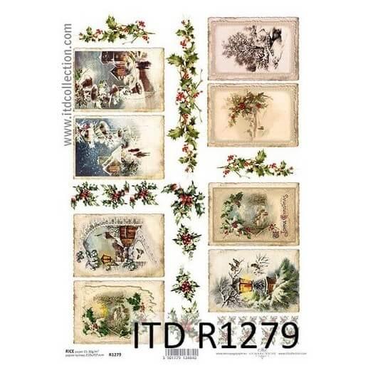 Ριζόχαρτο ITD 21x29cm, Χριστουγεννιάτικες κάρτες, R1279