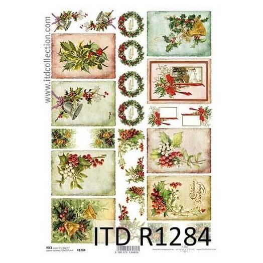 Ριζόχαρτο ITD  21x29cm, Χριστουγεννιάτικες κάρτες, R1284