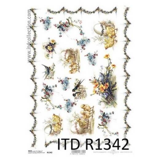 Ριζόχαρτο ITD, 21x29cm, Κοτοπουλάκια με αυγά, R1342