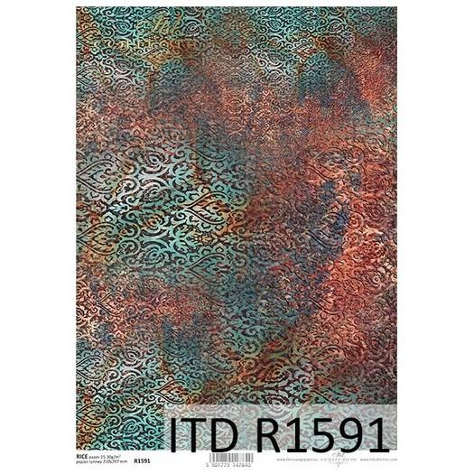 Ριζόχαρτο ITD, 21x29cm, Σκουριασμένη Ταπετσαρία, R1591