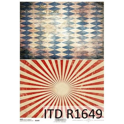 Ριζόχαρτο ITD, 21x29cm, Ρόμβοι και γραμμές, R1649