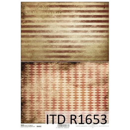 Ριζόχαρτο ITD, 21x29cm, Αντικέ ταπετσαρία, R1653