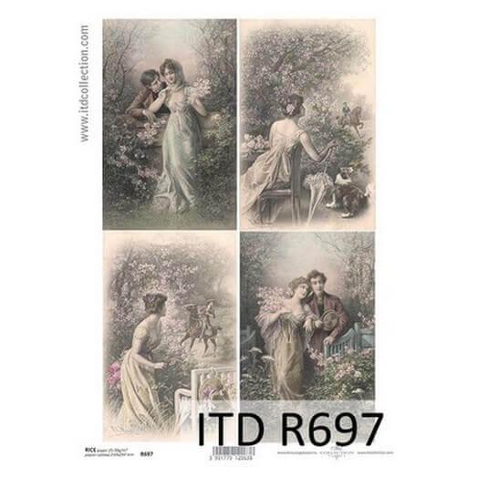 Ριζόχαρτο ITD, 21x29cm, Ερωτευμένο ζευγάρι, R697