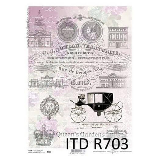Ριζόχαρτο ITD, 21x29cm, Άμαξα και φράσεις, R703