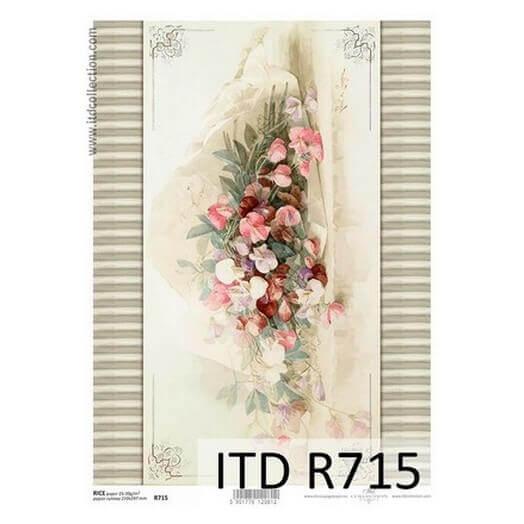 Ριζόχαρτο ITD, 21x29cm, Λουλούδια, R715
