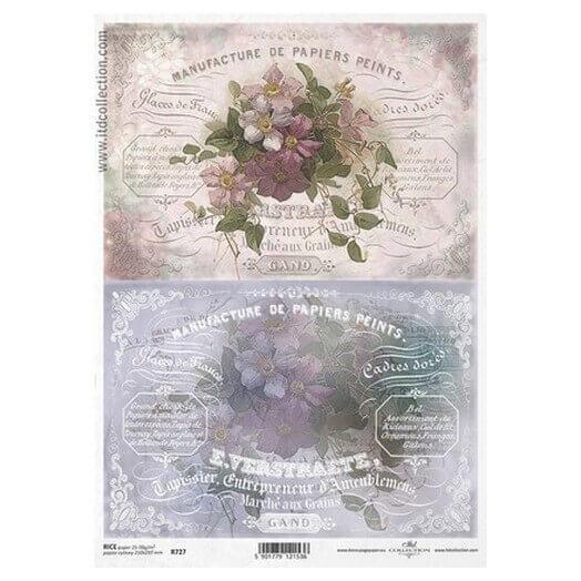 Ριζόχαρτο ITD, 21x29cm, Λουλούδια, R727