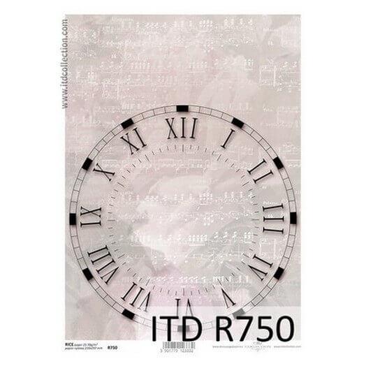 Ριζόχαρτο ITD, 21x29cm, Ρολόι, R750