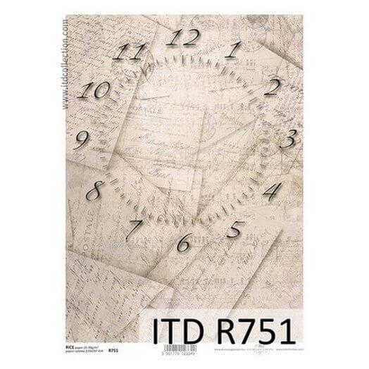 Ριζόχαρτο ITD, 21x29cm, Ρολόι, R751