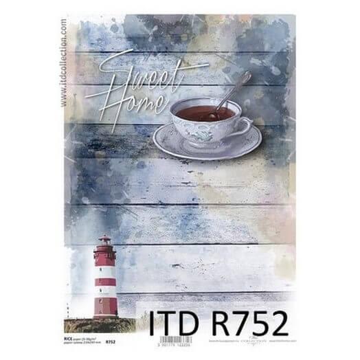 Ριζόχαρτο ITD, 21x29cm, Φάρος και καφές, R752