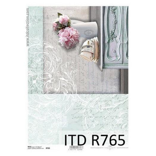 Ριζόχαρτο ITD, 21x29cm, Βάζο και φλιτζάνια, R765