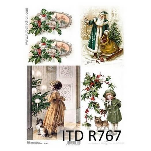 Ριζόχαρτο ITD Χριστουγεννιάτικο, 21x29cm, R767