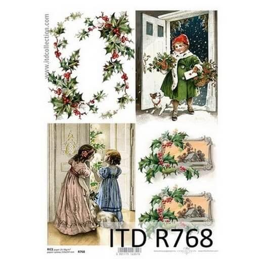 Ριζόχαρτο ITD Χριστουγεννιάτικη νύχτα, R768 21x29cm