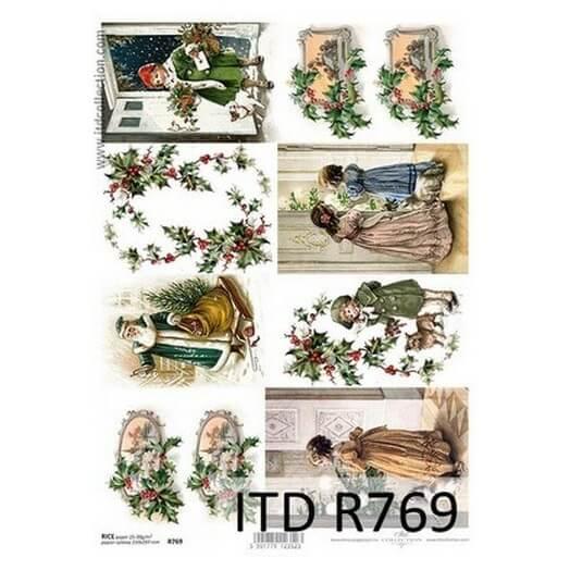 Ριζόχαρτο ITD Χριστουγεννιάτικες εικόνες, 21x29cm, R769