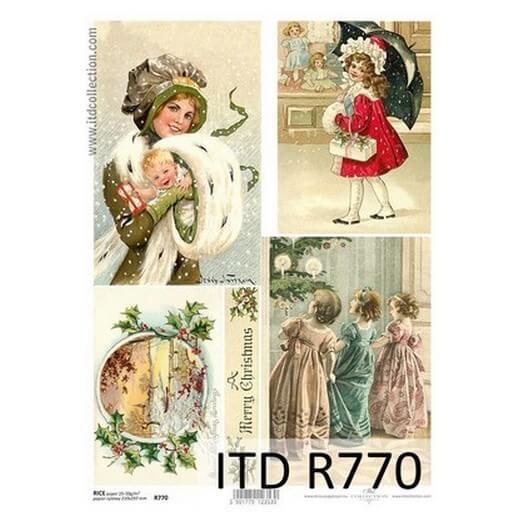Ριζόχαρτο ITD Χριστουγεννιάτικο, 21x29cm, R770
