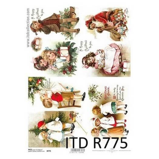 Ριζόχαρτο ITD Χριστουγεννιάτικο, Παιδάκια και κάλαντα 21x29cm
