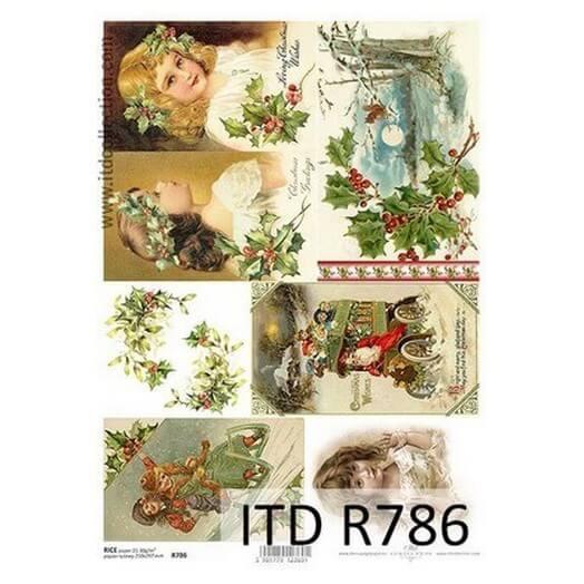 Ριζόχαρτο ITD Χριστουγεννιάτικες εικόνες, 21x29cm, R786