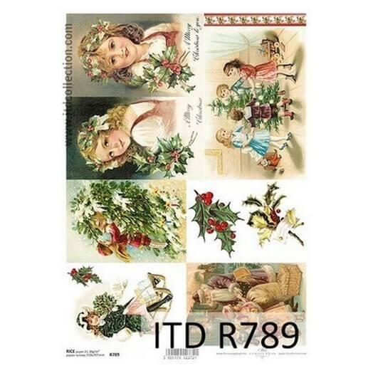 Ριζόχαρτο ITD Χριστουγεννιάτικο, 21x29cm, R789