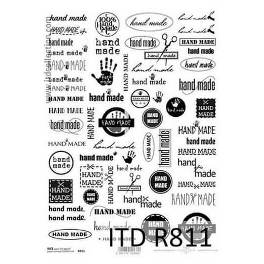 Ριζόχαρτο ITD R811, Φράσεις ασπρόμαυρες 21x29cm